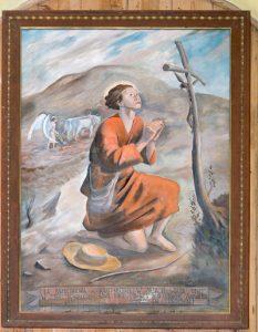 Odkryty przez pielgrzyma z Gdańska obraz sławnego polskiego malarza Tymona Niesiołowskiego Fot. Marian Paluszkiewicz