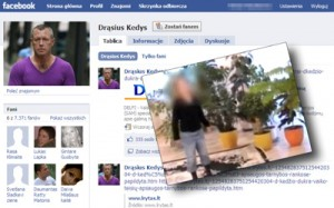 Podejrzewany o wymierzenie kary krzywdzicielom swojej córki Drąsius Kedys ma na Litwie szereg zwolenników, również w popularnym Facebook'u Kolaż Marian Paluszkiewicz