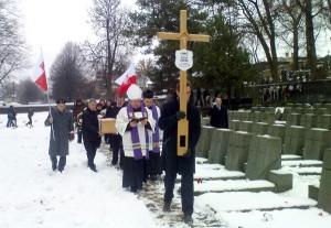 Szczątki Juliana Szweda spoczną na wieczystej kwaterze na wojskowym cmentarzyku na RossachFot. Witold Janczys