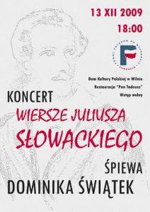 """Koncert """"Wiersze Juliusza Słowackiego"""" śpiewa Dominika Piątek"""