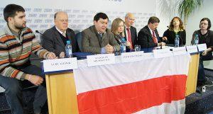 Przedstawiciele białoruskiej opozycji w Brukseli, Warszawie i Wilnie mówili jednym głosem i jednogłośnej też reakcji oczekują od Unii Europejskiej na sytuację w Białorusi Fot. Marian Paluszkiewicz