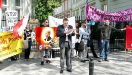 Demonstracja pod ambasadami Węgier i Litwy w Warszawie