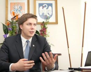 Mer rejonu janowskiego Mindaugas Stankevičius. Fot. Marian Paluszkiewicz
