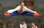"""Solista baletu onże choreograf German Komarowski w ukraińskim """"hopaku"""" Fot. Marian Paluszkiewicz"""