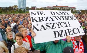 Jeśli władze Litwy zignorują postulaty protestujących, to w polskich szkołach zostanie ogłoszony strajk  Fot. Marin Paluszkiewicz