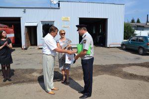 Wicemer Czesław Olszewski pozytywnie ocenił pracę Stowarzyszenia Ochotniczej Straży Pożarnej Rejonu Wileńskiego