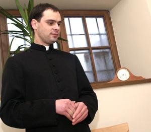 Ksiądz Vaidas Vaišvilas              Fot. Marian Paluszkiewicz