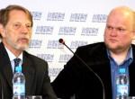 Prof. dr hab. Sven Ekdahl i reżyser Aleksandras Matonis Fot. Marian Paluszkiewicz