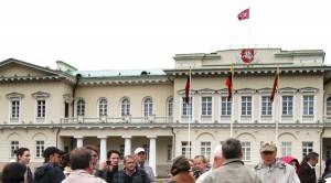 Obecny Pałac Prezydencki w Wilnie był kiedyś Pałacem Biskupim  Fot. Marian Paluszkiewicz