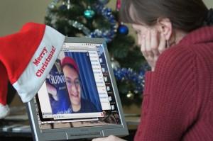 """""""Skype"""" emigrantom daje możliwość spotkać się z rodziną na święta przynajmniej wirtualnie Fot. Marian Paluszkiewicz"""