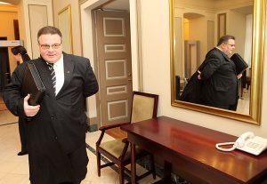 Linas Linkevičius oświadczył, że będzie dążył do polepszenia relacji z  krajami sąsiednimi         Fot. ELTA