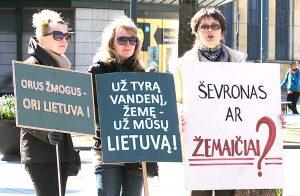 Na Litwie zwiększa się obawa o środowisko naturalne i coraz bardziej nasilają się protesty przeciwko poszukiwaniom gazu łupkowego Fot. Marian Paluszkiewicz