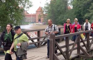 Głównym obiektem turystycznym w Trokach jest zamek na wyspie Fot. Marian Paluszkiewicz