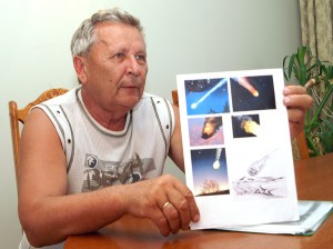 """""""Ja słyszę, jak padają meteoryty! Dlatego je szukam"""" — z entuzjazmem mówi nasz rozmówca Fot. Marian Paluszkiewicz"""