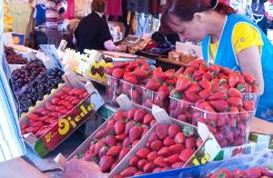 W tym roku truskawki na rynku pojawiły się później Fot. Marian Paluszkiewicz