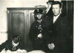 Przesłuchanie Borysa Kowerdy na Komisariacie Policji w Warszawie