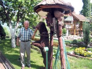 Każda rzeźba w ogrodzie ma swoją historię Fot. Alina Sobolewska