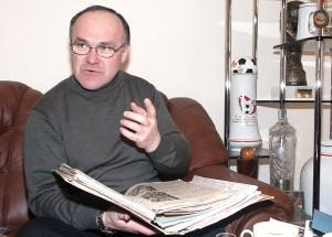 """Stefan Kimso, prezes Klubu Sportowego """"Polonia"""" Wilno Fot. Marian Paluszkiewicz"""