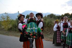 Jako polski zespół z Litwy zatańczyliśmy krakowiaka i litewską polkę      Fot. archiwum