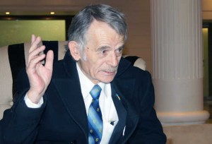 Mustafa Dżemilew, przewodniczący Medżylisu Tatarów Krymskich, deputowany do Najwyższej Rady Ukrainy<br/>Fot. Marian Paluszkiewicz