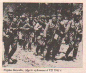 Wojsko litewskie, zdjęcie wykonane 6.VII.1941 r. Fot. archiwum
