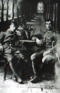 Kazimierz Koszczuk z adiutantem Fot. archiwum