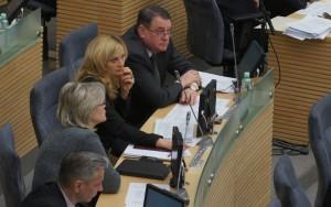 Frakcja AWPL podczas obrad Sejmu Fot. Marian Paluszkiewicz