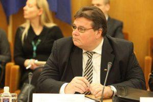 Minister spraw zagranicznych Litwy, Linas Linkevičius, dał do zrozumienia ukraińskim dygnitarzom, że nie mogą liczyć na to, że Unia sprosta ich oczekiwaniom finansowym Fot. archimum