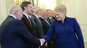 Podczas spotkanie ministrów z prezydent Grybauskaitė z okazji rocznicy pracy rządu nie obeszło się bez zjadliwości prezydent pod adresem rządzących Fot. ELTA