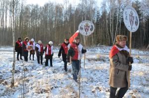 Mroźny poranek (-17.C) 18 stycznia nie przestraszył nikogo z patriotycznych pielgrzymów Fot. archiwum