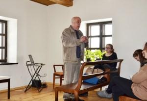 Dr Józef Szostakowski przeprowadził ciekawą lekcję o znaczeniu twórczości Donelaitisa w dzisiejszych czasach