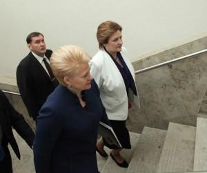 prezydent nie wspomniała o strategicznym partnerstwie z Polską nawet w kontekście zagrożenia ze strony Rosji Fot. ELTA