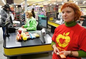 W tegorocznej akcji zebrano produktów spożywczych na ponad milion litów Fot. Marian Paluszkiewicz