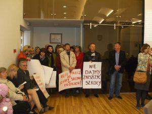 Rodzice i nauczyciele Szkoły Średniej w Trokach na posiedzeniu Rady samorządu Fot. Alina Sobolewska