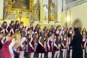 """Chór dziecięcy """"Gioia di cantare"""" z ZSM z Torunia urzekł wszystkich radością śpiewania Fot. Anna Pieszko"""