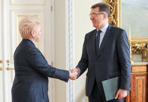 Nowy stary rząd premiera Algirdasa Butkevičiusa prezydent Dalia Grybauskaitė zaakceptowała w niespełna dobę     Fot. ELTA