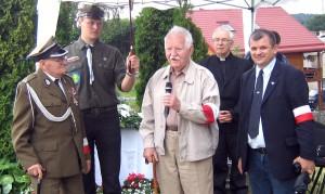 Zygmunt Krzymowski oraz Czesław Sawicz uczestnicy operacji weterani AK Fot. Teresa Markiewicz