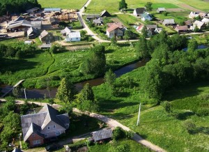 Wieś Słoboda z lotu ptaka  Fot. Henryk Sielewicz