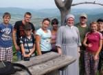 Siostra Łucja z młodzieżą w Zakopanem