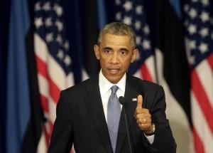 Amerykański prezydent pochwalił Estończyków za ich wkład w obronność Sojuszu  Fot. EPA-ELTA