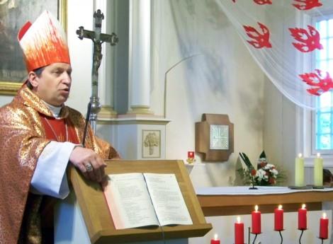 Ks. biskup Diecezji Wilkawiskiej, uczestnik Synodu, Ekscelencją Rimantas Norvilas Fot. archiwum