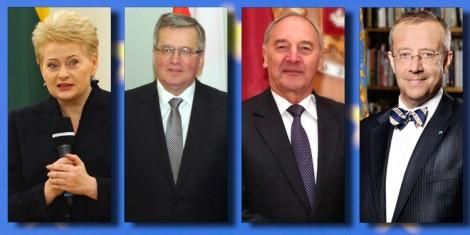 Prezydenci Litwy, Polski, Łotwy i Estonii na spotkaniu w Estonii Fotomontaż Marian Paluszkiewicz