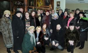 Uczestnicy Klubu Weteranów Wilii w muzeum Anny Krepsztul Fot. Henryk Nausewicz