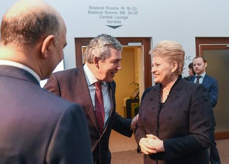 """27 czerwca Litwa została """"osierocona"""". Za granicę kraju wyjechali prezydent, premier oraz przewodnicząca Sejmu    Fot. Marian Paluszkiewicz"""