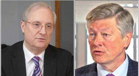 Edmundas Vaitekūnas  i Artūras Paulauskas popierają decyzję zaprzestania transmisji niektórych kanałów rosyjskich  Fotomontaż K.W.