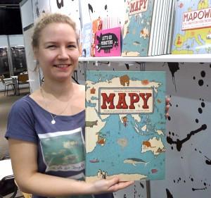 """Książka """"Mapy"""" Aleksandry i Daniela Mizielińskich została wydana w języku litewskim Fot. Justyna Giedrojć"""
