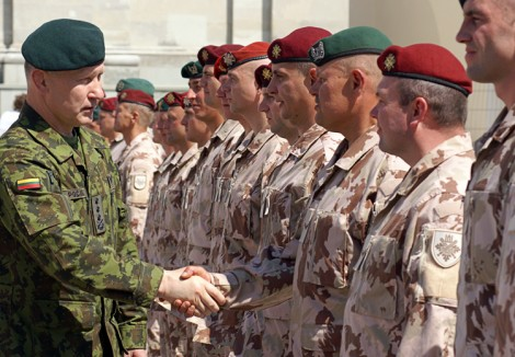Obecnie Litwa ma 7 910 zawodowych żołnierzy Fot. Marian Paluszkiewicz