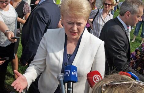 Dalia Grybauskaitė zaznaczyła, że realizacja projektu w obecnej postaci, kosztowałaby zbyt drogo i stworzyłaby dodatkowe obciążenie obywatelom Fot. Marian Paluszkiewicz