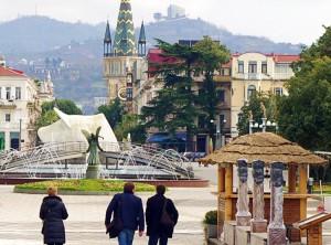 Wiosenna ulica w Batumi ― stolicy regionu Adżaria Fot. Brygita Łapszewicz