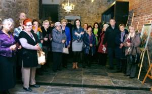 Otwarcie wystawy znanej plastyczki wileńskiej Danuty Lipskiej w Hotelu Krasickiego zgromadziła wiele osób Fot. Leszek Waga
